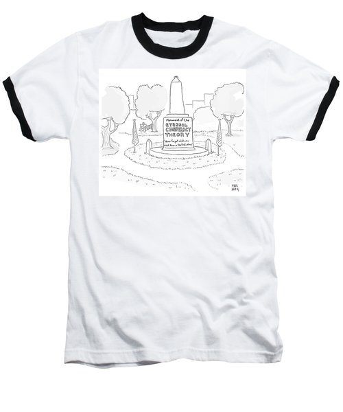 Monument Of The Eternal Conspiracy Theory Baseball T-Shirt