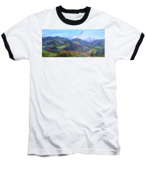 Mountain Patchwork Baseball T-Shirt