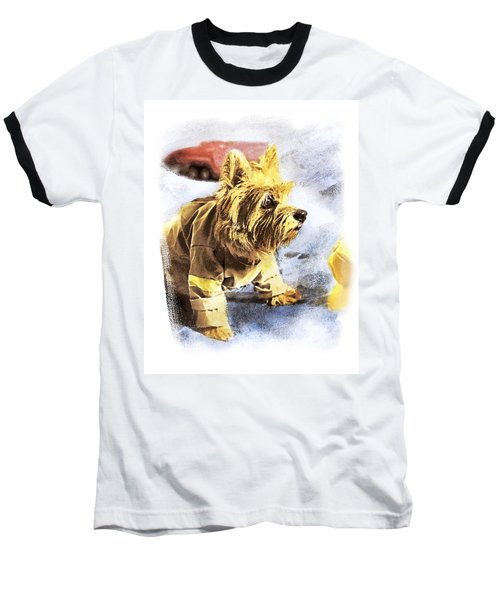 Norwich Terrier Fire Dog Baseball T-Shirt