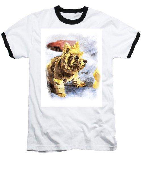 Norwich Terrier Fire Dog Baseball T-Shirt