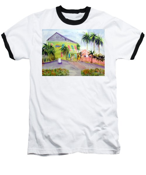 Old Key Lime House Baseball T-Shirt by Donna Walsh