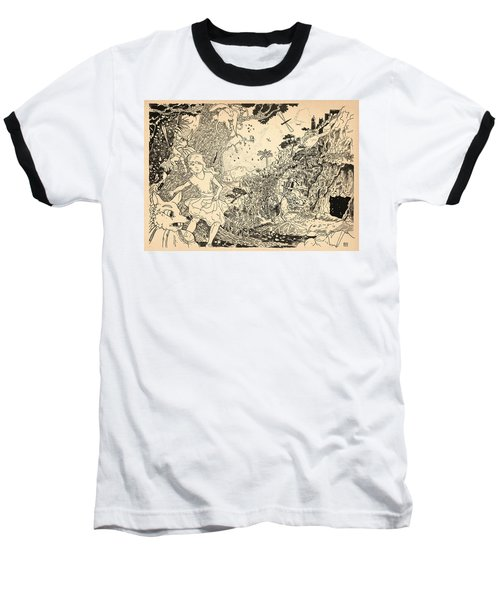 Baseball T-Shirt featuring the drawing Open Sesame by Reynold Jay