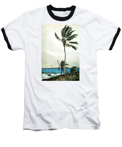 Palm Tree Nassau Baseball T-Shirt by Celestial Images