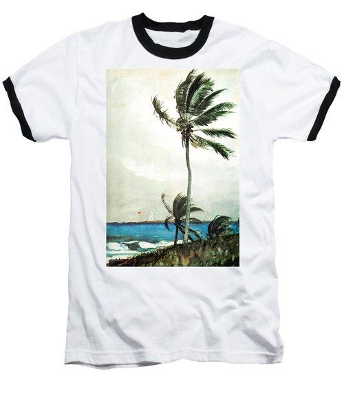 Palm Tree Nassau Baseball T-Shirt
