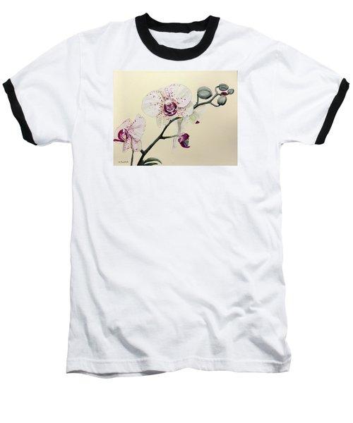 Phalaenopsis Black Panther Orchid Baseball T-Shirt