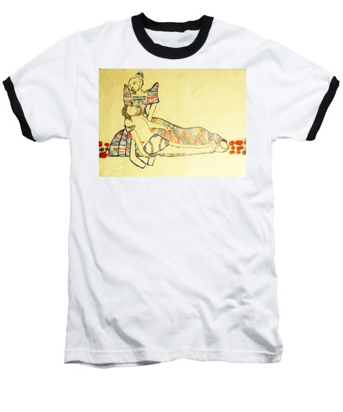 Pieta Baseball T-Shirt by Gloria Ssali