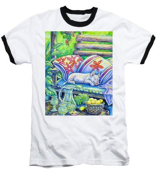 Pig On A Porch Baseball T-Shirt