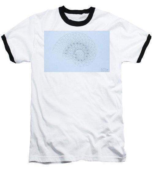 Quantum Nautilus Baseball T-Shirt by Jason Padgett