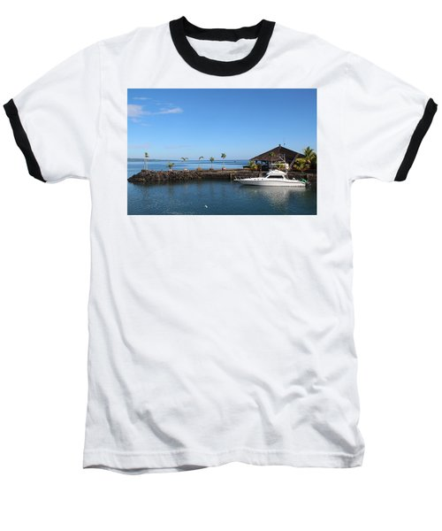 Baseball T-Shirt featuring the photograph Quiet Bay by Sergey Lukashin