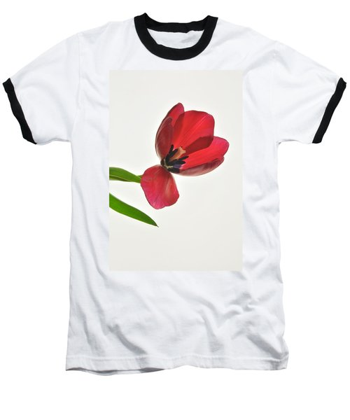 Red Transparent Tulip Baseball T-Shirt
