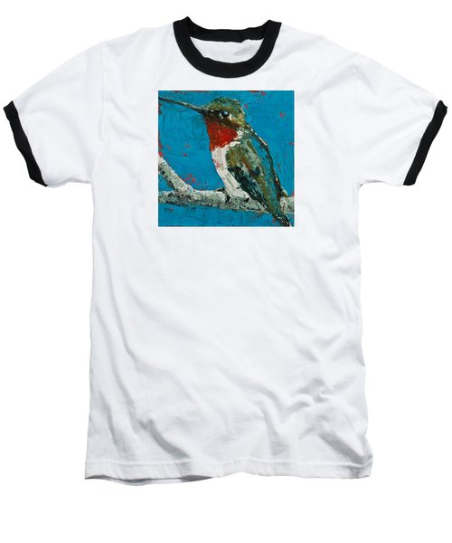 Ruby-throated Hummingbird Baseball T-Shirt by Jani Freimann