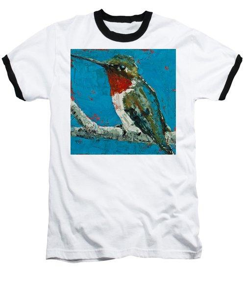 Ruby-throated Hummingbird Baseball T-Shirt
