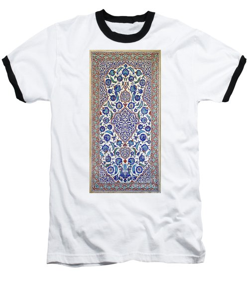 Sultan Selim II Tomb 16th Century Hand Painted Wall Tiles Baseball T-Shirt by Ralph A  Ledergerber-Photography