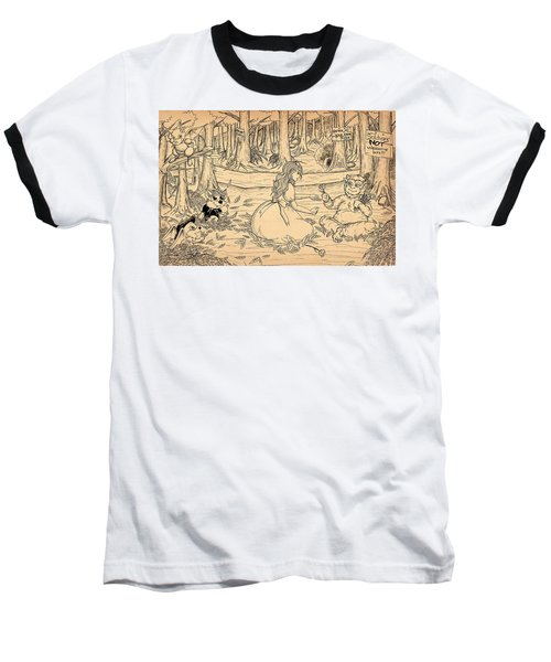 Baseball T-Shirt featuring the drawing Tammy And The Baby Hoargg by Reynold Jay