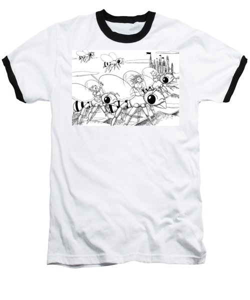 Baseball T-Shirt featuring the drawing Tammy In Polynesia by Reynold Jay