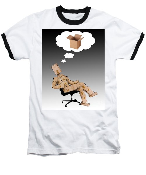 Think Outside The Box Concept Baseball T-Shirt