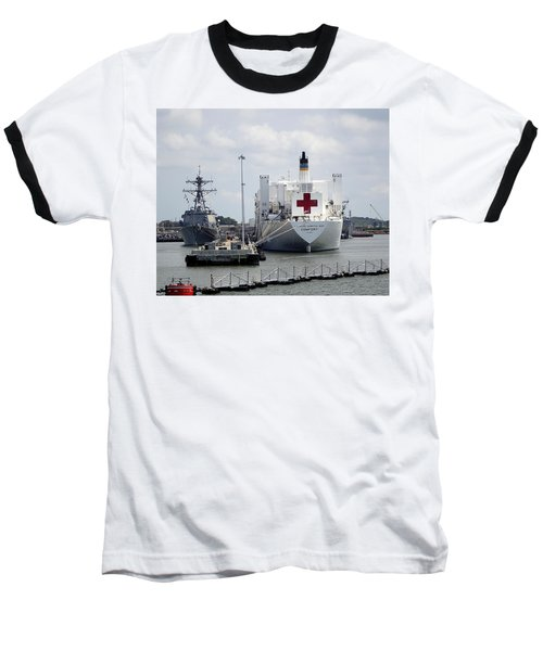 Us Naval Hospital Ship Comfort Baseball T-Shirt