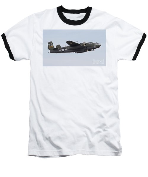 Vintage World War II Bomber Baseball T-Shirt by Kevin McCarthy