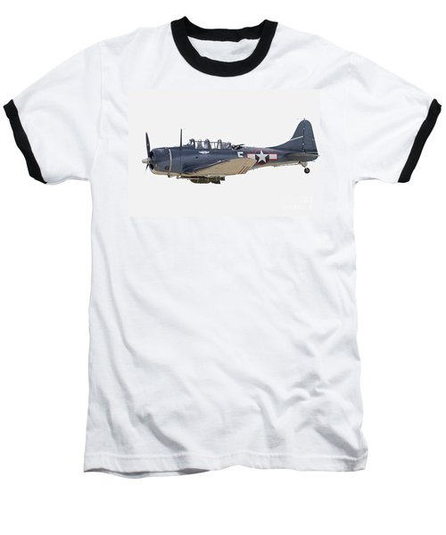 Vintage World War II Dive Bomber Baseball T-Shirt by Kevin McCarthy