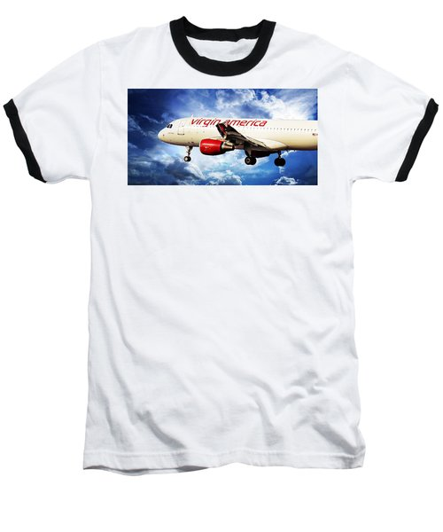 Virgin America Mach Daddy Baseball T-Shirt by Aaron Berg