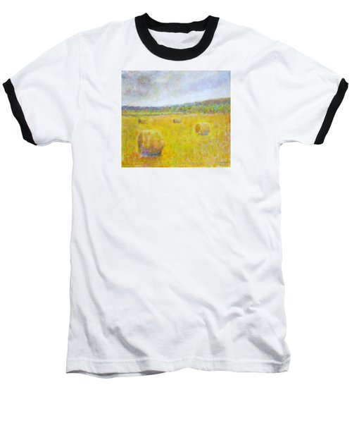 Wheat Bales At Harvest Baseball T-Shirt
