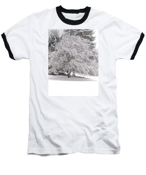 White As Snow Baseball T-Shirt