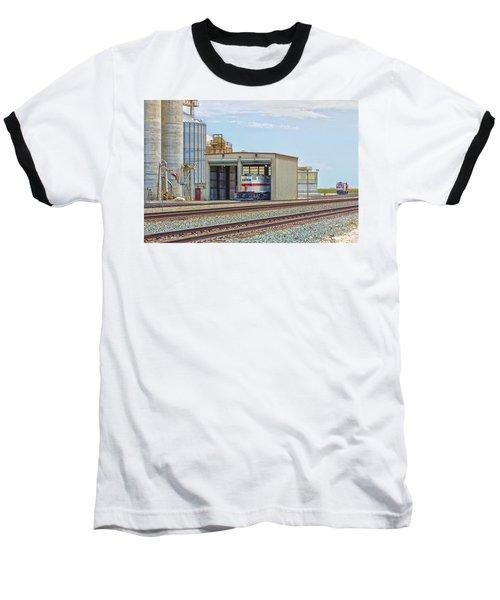 Foster Farms Locomotives Baseball T-Shirt by Jim Thompson