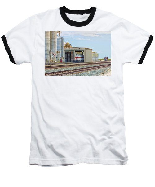 Baseball T-Shirt featuring the photograph Foster Farms Locomotives by Jim Thompson