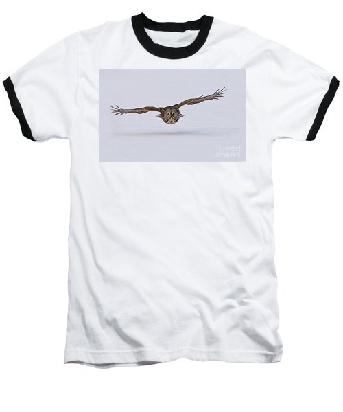 Great Gray Owl Baseball T-Shirt