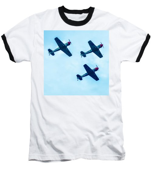 Action In The Sky During An Airshow Baseball T-Shirt