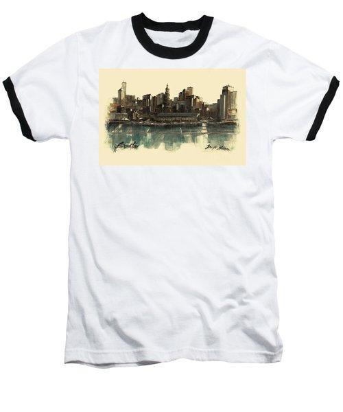 Boston Skyline Baseball T-Shirt