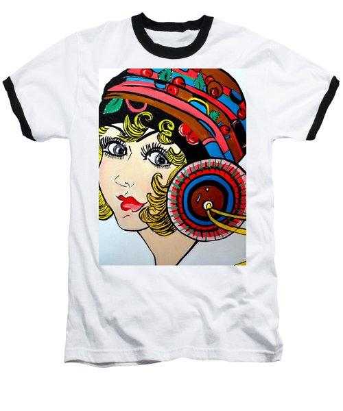 Art Deco  Ann Baseball T-Shirt by Nora Shepley