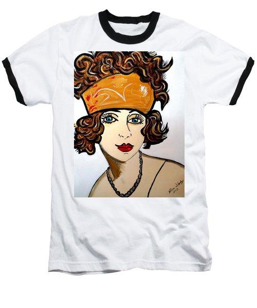 Art Deco  Hilda Baseball T-Shirt by Nora Shepley