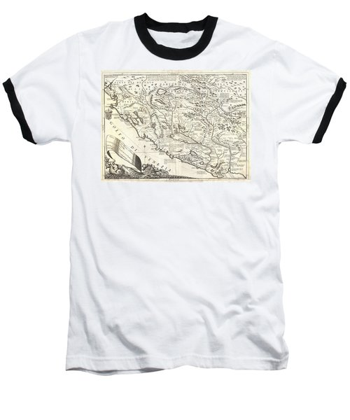 1690 Coronelli Map Of Montenegro Baseball T-Shirt