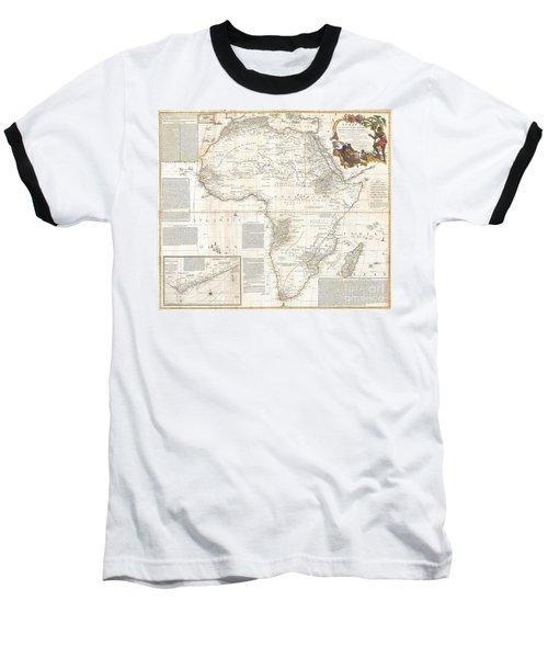 1787 Boulton  Sayer Wall Map Of Africa Baseball T-Shirt