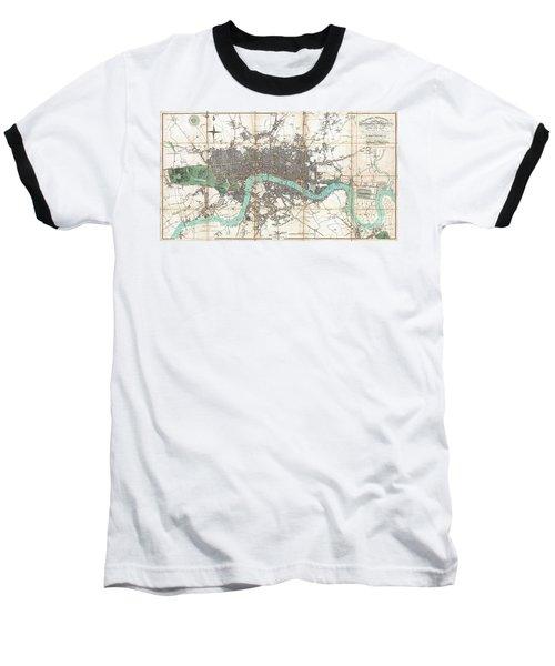 1806 Mogg Pocket Or Case Map Of London Baseball T-Shirt