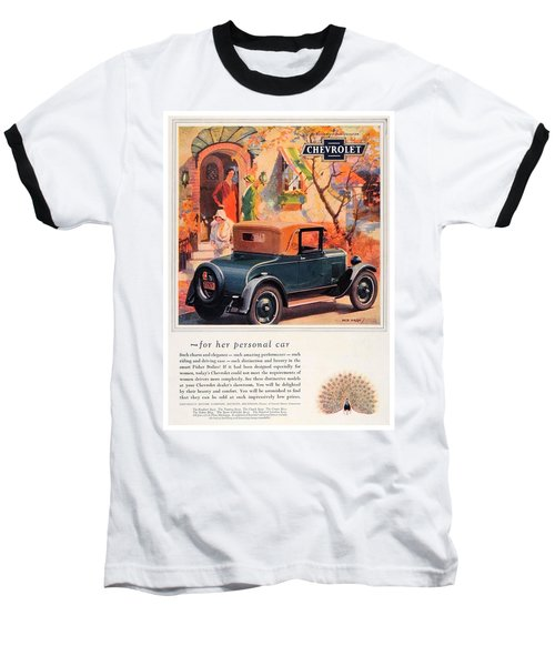 1927 - Chevrolet Advertisement - Color Baseball T-Shirt