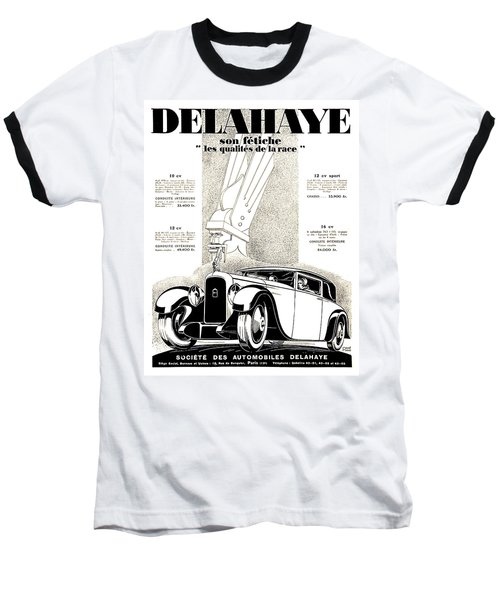 1928 - Delehaye Automobile Advertisement Baseball T-Shirt