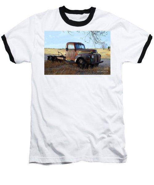 1940s Ford Farm Truck Baseball T-Shirt