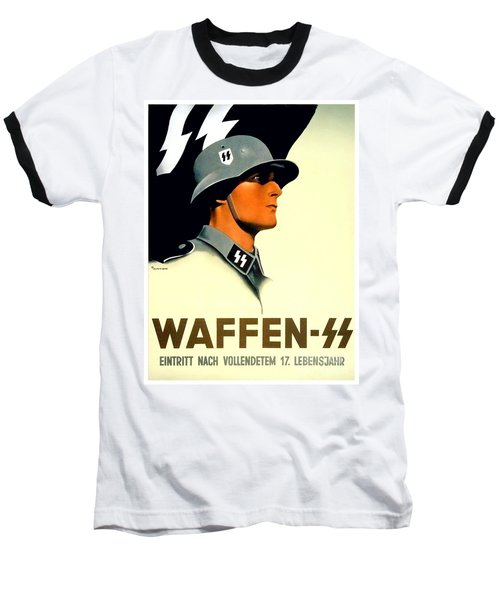 1941 - German Waffen Ss Recruitment Poster - Nazi - Color Baseball T-Shirt