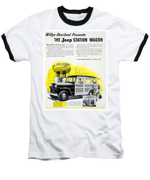1946 - Willys Overland Jeep Station Wagon Advertisement - Color Baseball T-Shirt