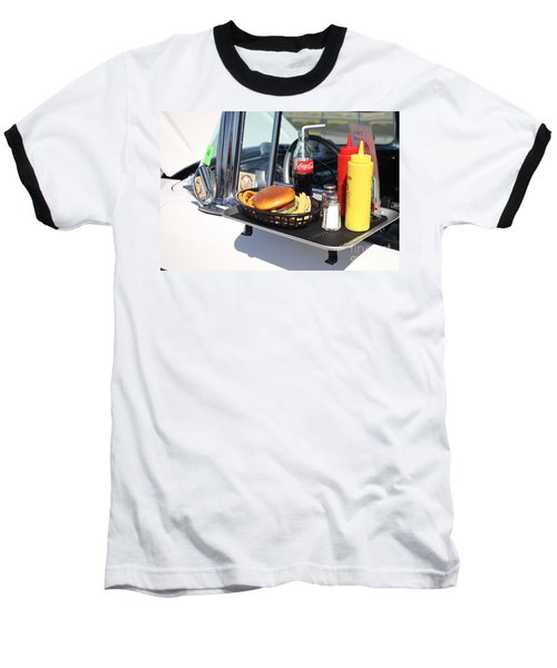 1950's Drive In Movie Snack Tray Baseball T-Shirt