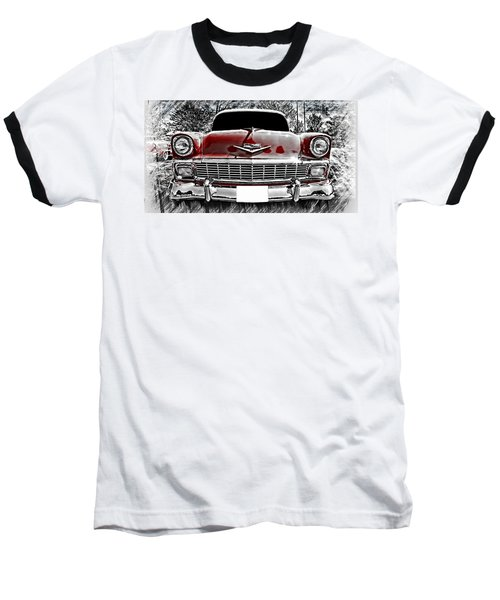 Baseball T-Shirt featuring the photograph 1956 Chevy Bel Air by Aaron Berg