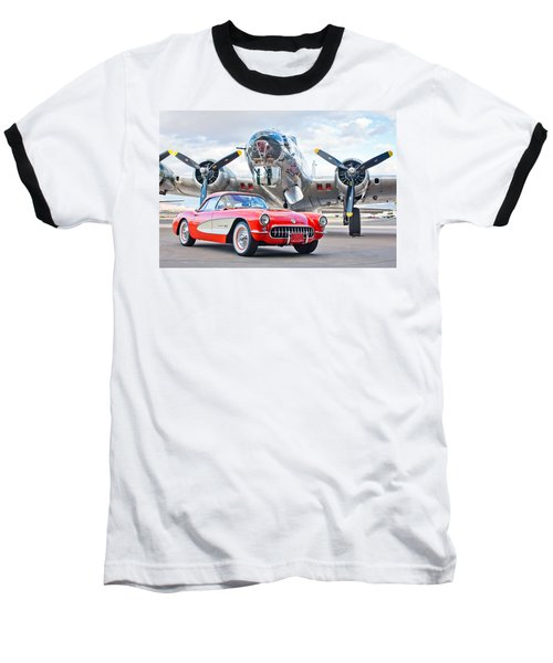 1957 Chevrolet Corvette Baseball T-Shirt