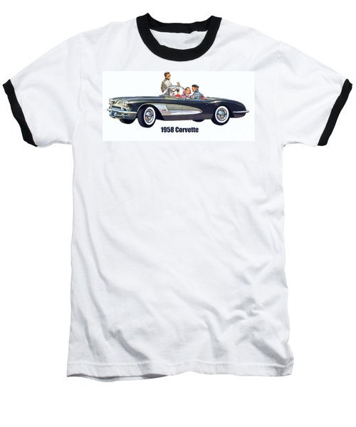 1958 Chevrolet Corvette Baseball T-Shirt