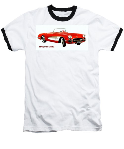 1959 Corvette Baseball T-Shirt