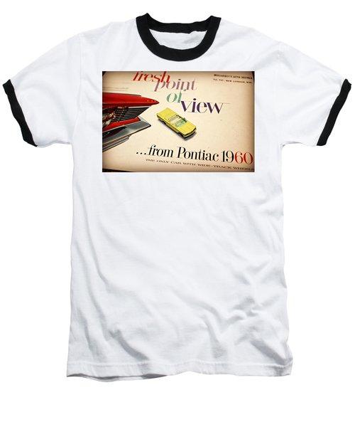 1960 Pontiac Matchbox Cover Car Baseball T-Shirt