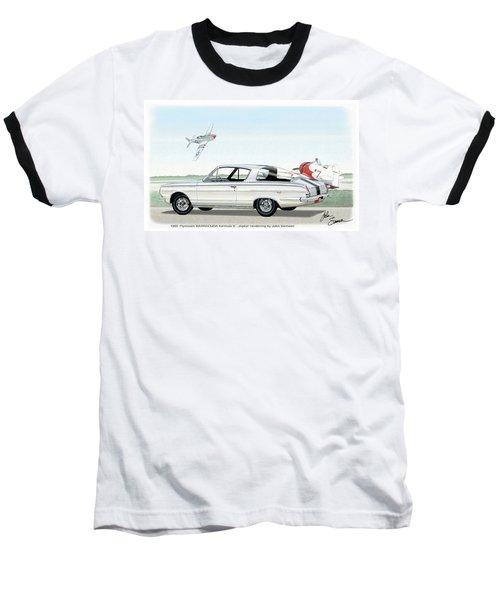 1965 Barracuda  Classic Plymouth Muscle Car Baseball T-Shirt