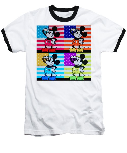 American Mickey Baseball T-Shirt