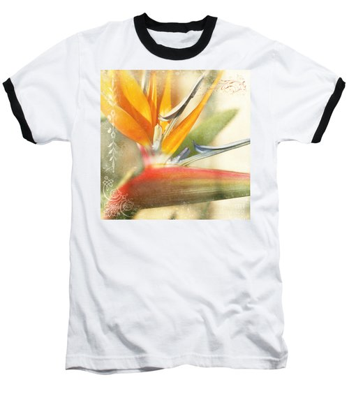 Bird Of Paradise - Strelitzea Reginae - Tropical Flowers Of Hawaii Baseball T-Shirt by Sharon Mau